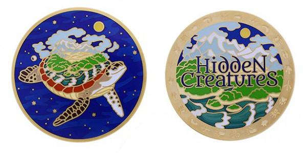 Hidden Creatures Geocoin