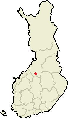 Umiestenie mesta Haapajärvi na mape Fínska