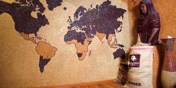 Mozaika z kávových zŕn