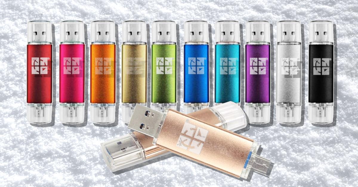 USB 16GB Geocaching logo