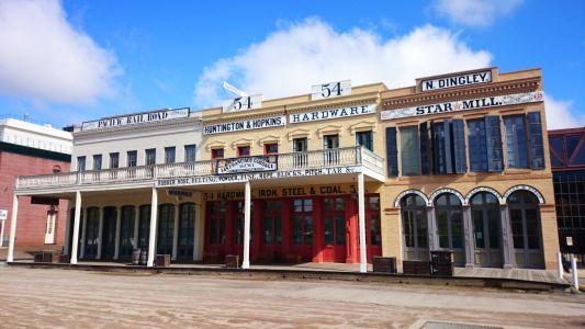 Historické centrum Sacramenta vo westernovom štýle