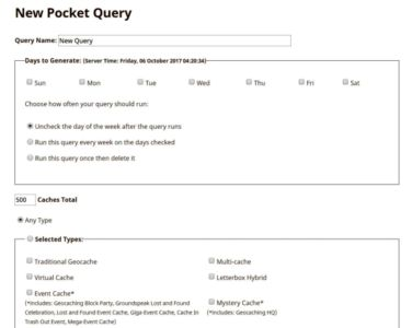 Funkcie PM: Pocket Query