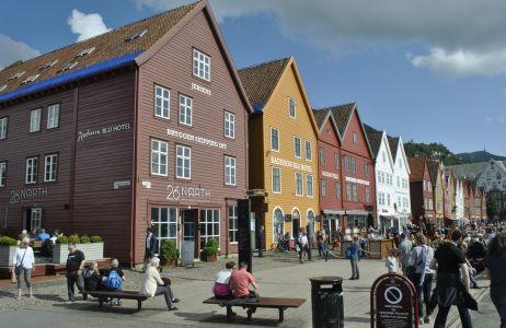 Bergenská štvrť Bryggen