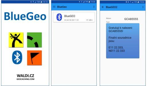 Snímky z mobilní aplikace