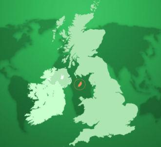 Ostrov Man leží v Írskom mori medzi medzi Veľkou Britániou a Írskom