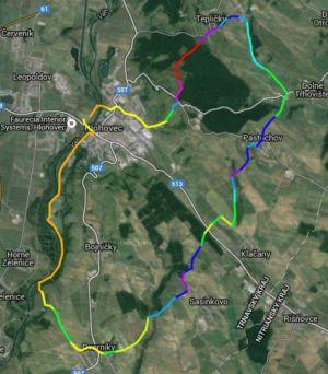 Mapa cyklosérie Okolo Hlohovca