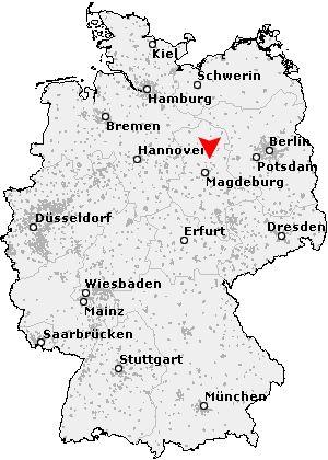 Umiestnenie obce Angern na mape Nemecka