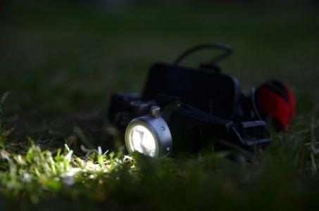 Čelovka s nabitými baterkami
