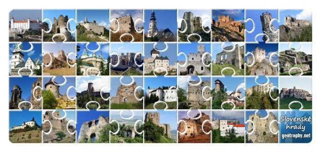 Geothrophy puzzle Slovenské hrady