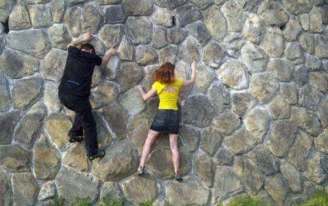 Jašterica - súťaž v horizontálnom lezení