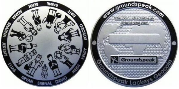 Lackey geocoin