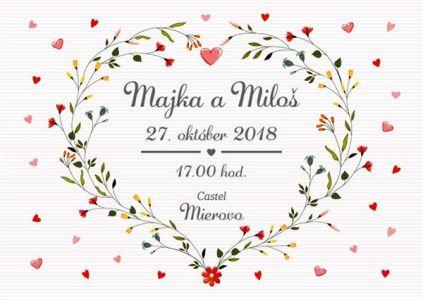 Svadobné oznámenie: Majka a Miloš