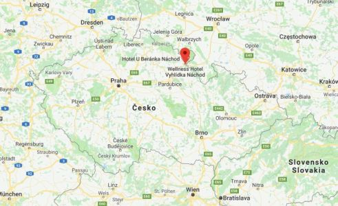 Náchod na mape Česka