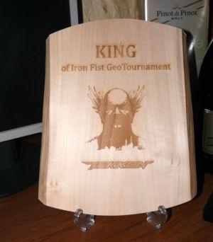 Putovná plaketa King of Fist GeoTournament
