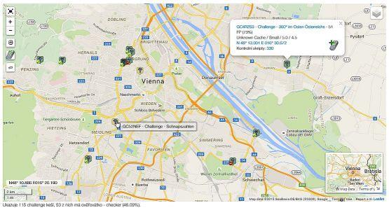 Project-GC: Mapa challenge keší vo Viedni