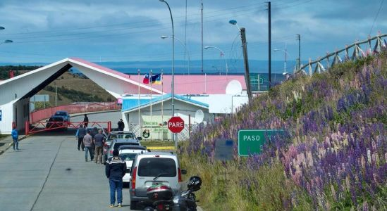 Hraničný priechod pri Río Turbio