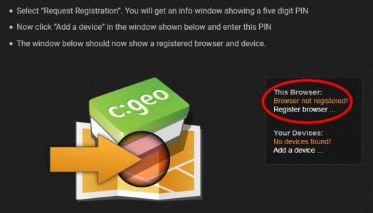 Registrácia prehliadača a zariadenia