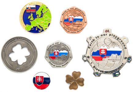 Slovenské geocoiny (rub)