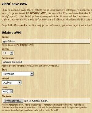 Pridanie nového SWG na stránku
