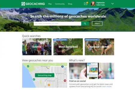 Stránka geocaching.com