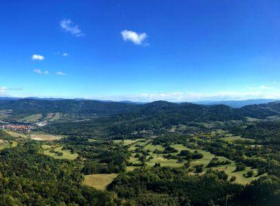 Výhľad z ferraty na Veľkom Griči