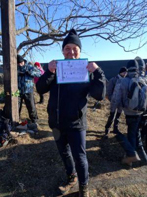 Zalogované, teší sa Dano, organizátor silvestrovských výstupov na Sitno