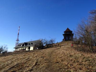 Znovuotvorená chata Andreja Kmeťa na vrchole Sitna