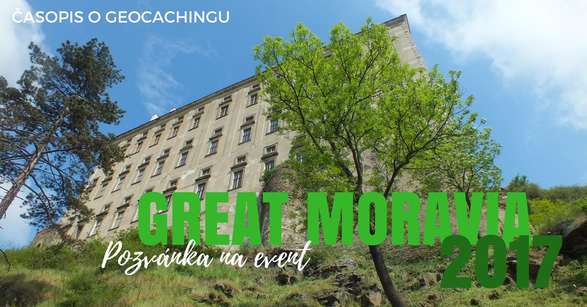 Pozvánka na event, Great Moravia 2017, geocaching