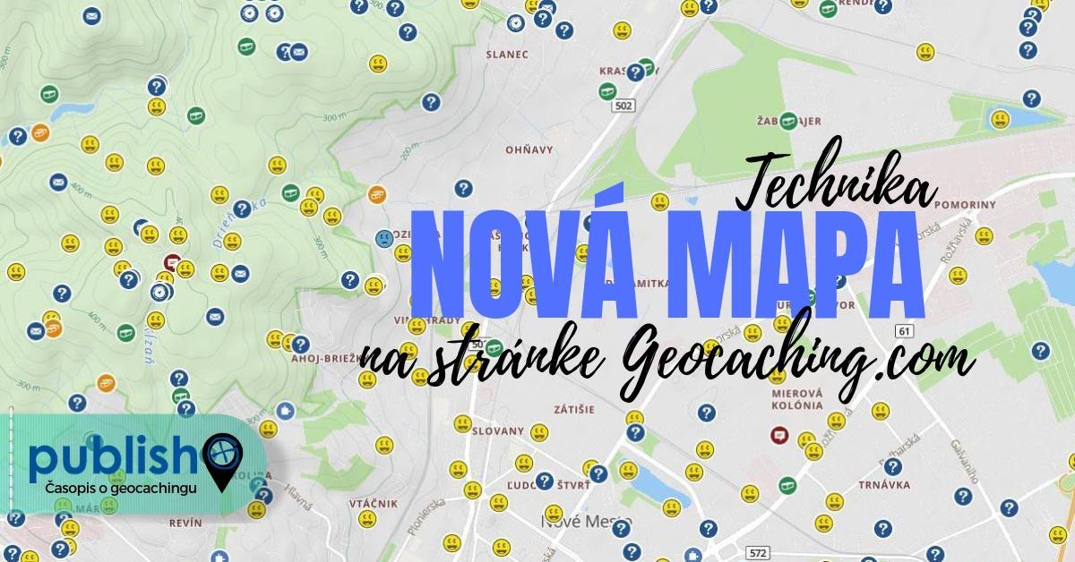 Technika: Nová mapa na stránke Geocaching.com